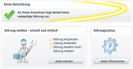 Kabel-Deutschland-Kundenportal  Störungsmeldung Schritt 2