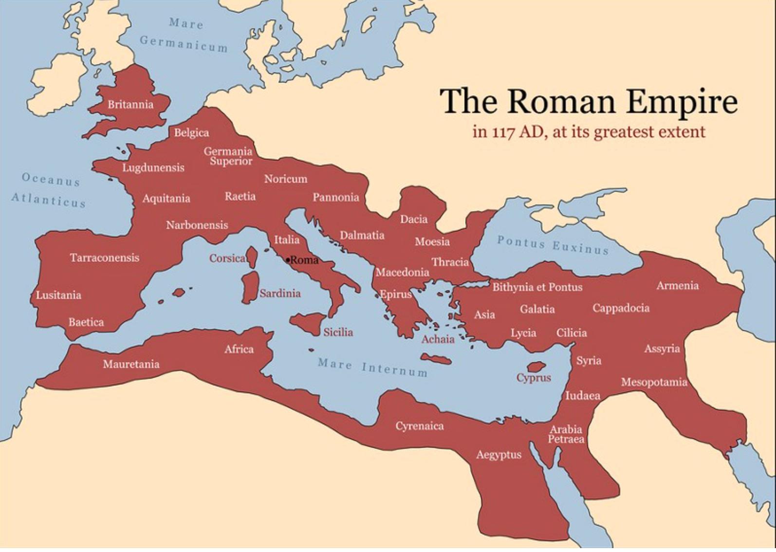 Carte : L'Empire au temps de son apogée
