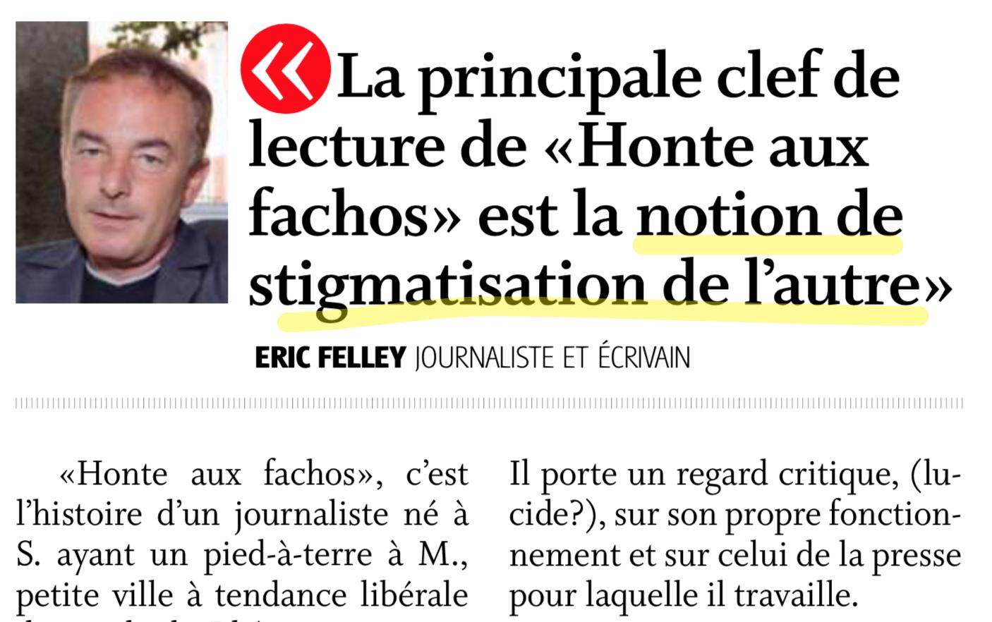 M. Felley est aussi romancier (Nouvelliste, 12.4.2012)