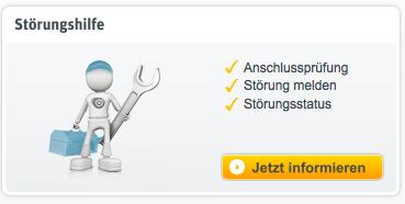 Kabel-Deutschland-Kundenportal  Störungsmeldung Schritt 1