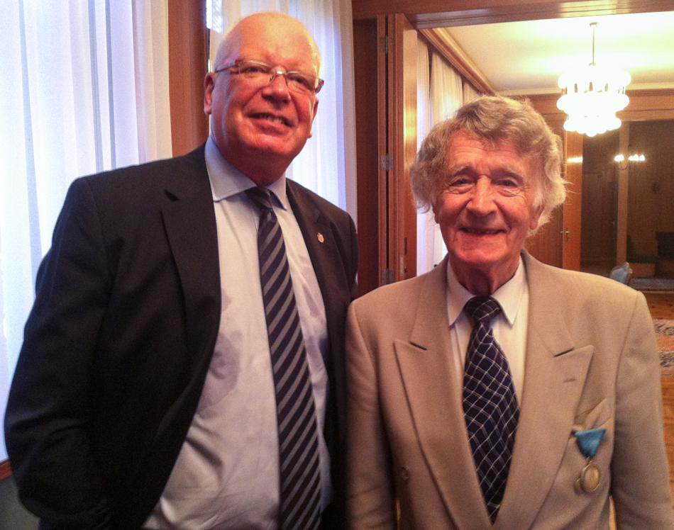 Franz Weber avec Milan St. Protić