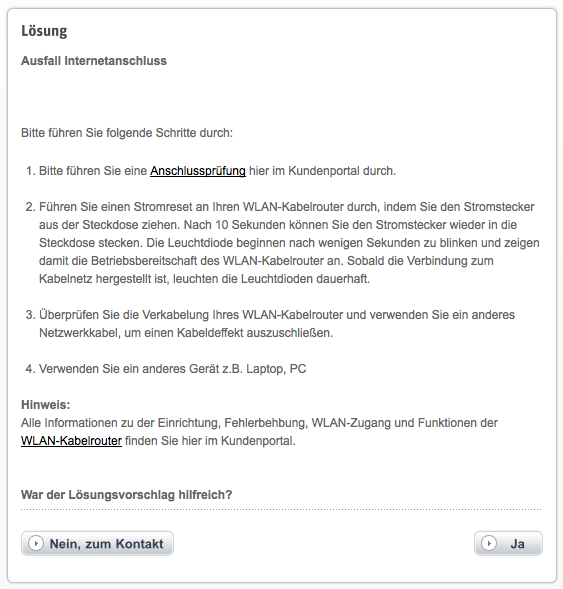 Kabel-Deutschland-Kundenportal  Störungsmeldung Schritt 15