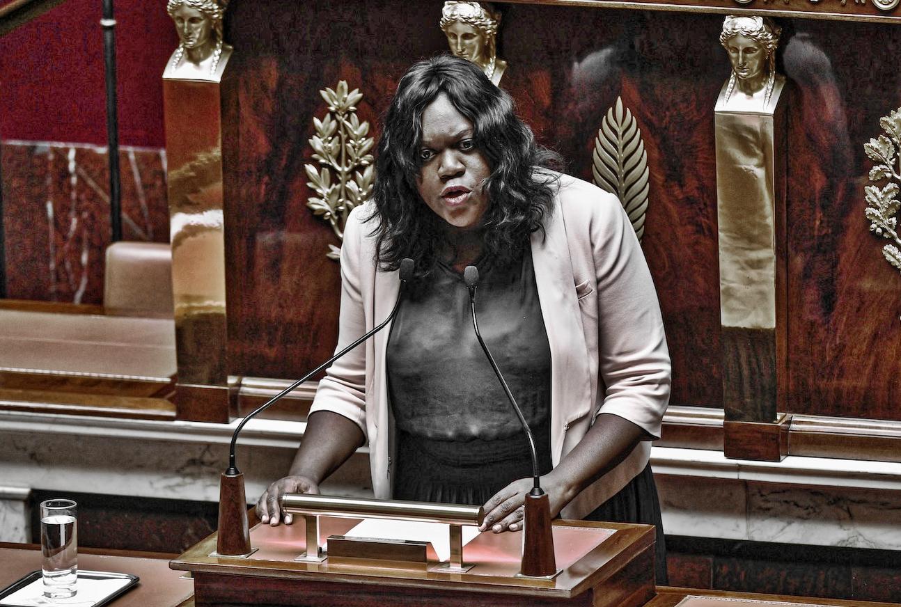 Lætitia Avia à l'Assemblée.