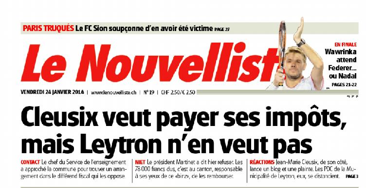 Nouvelliste-une-Cleusix-Leytron