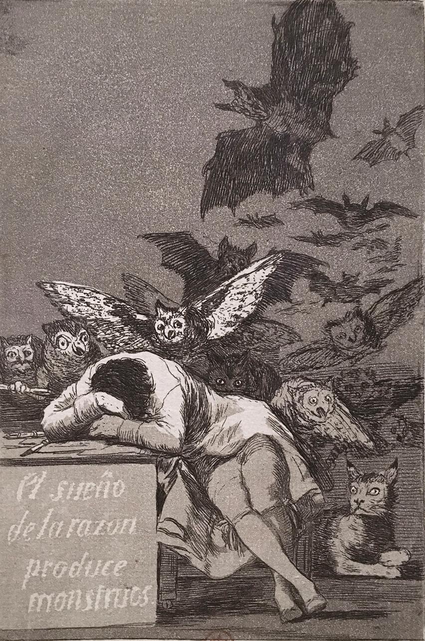 Goya: «Le sommeil de la raison produit des monstres»