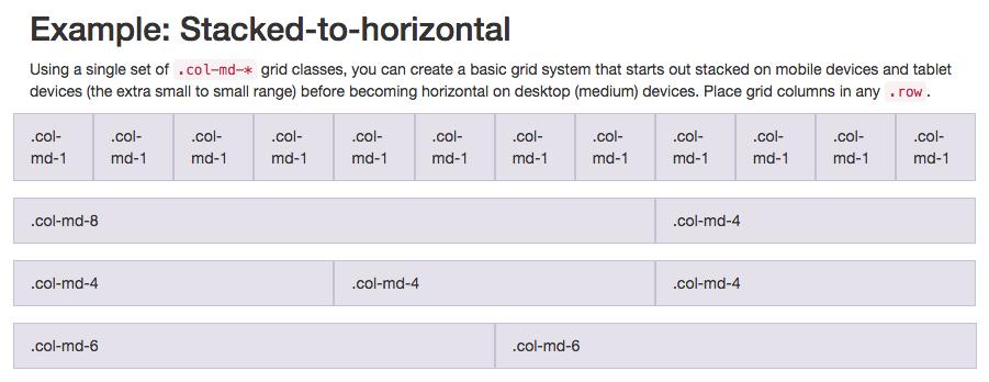 Bootstrap 12 column grid layout