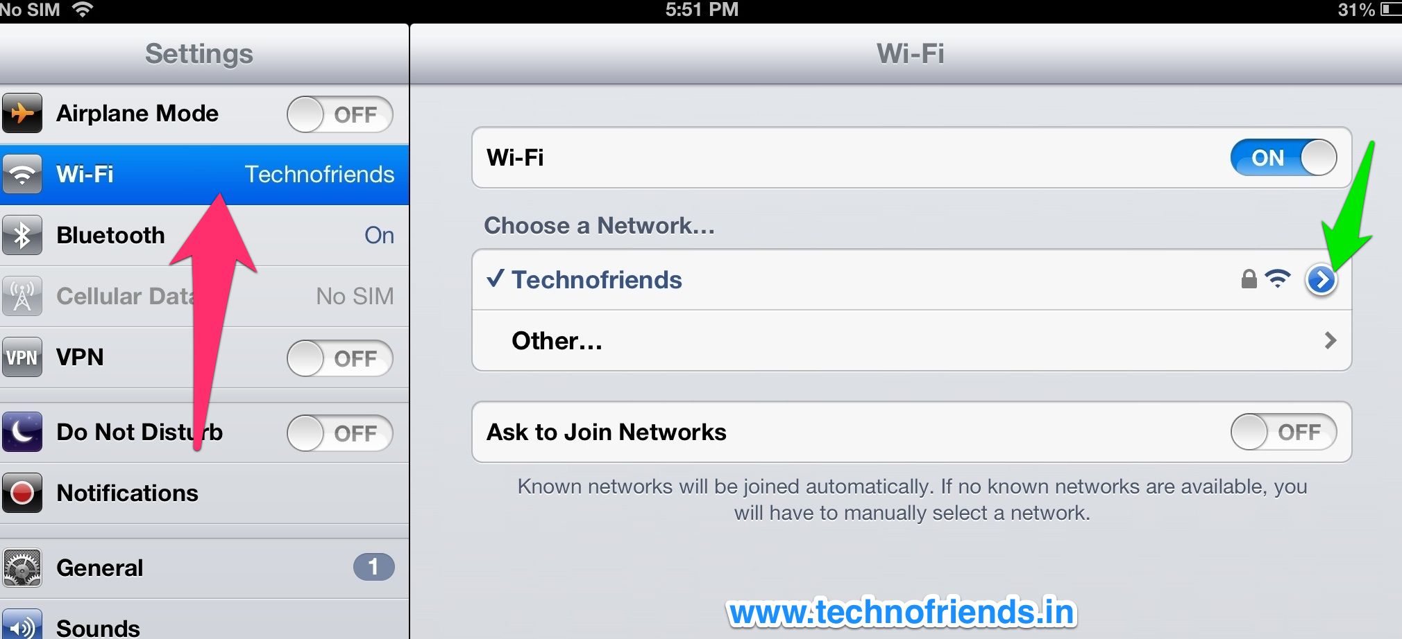 Modifying the wireless network on your iPhone or iPad for HTTP Debugging