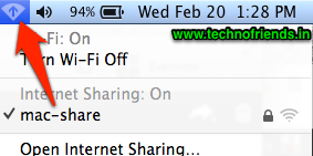 Sharing internet using Mac OS X Mountain Lion