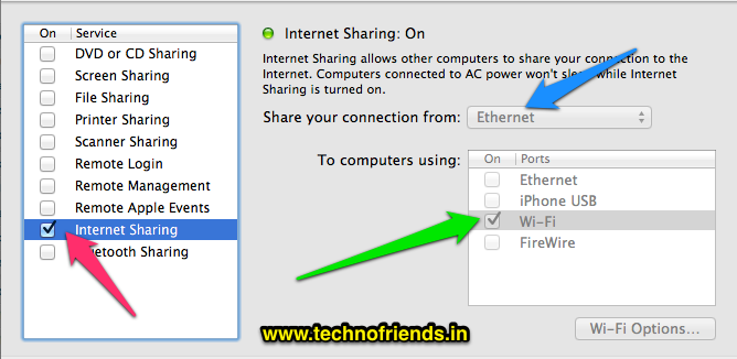 Sharing your internet with other computers using Mountain Lion (Mac OS X)