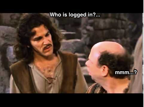 Who is logged in?