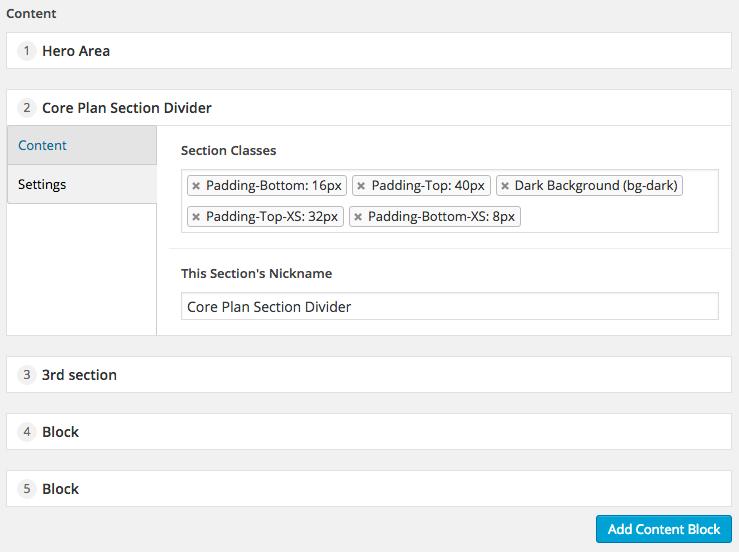 ACF Flexible Content Custom Labels