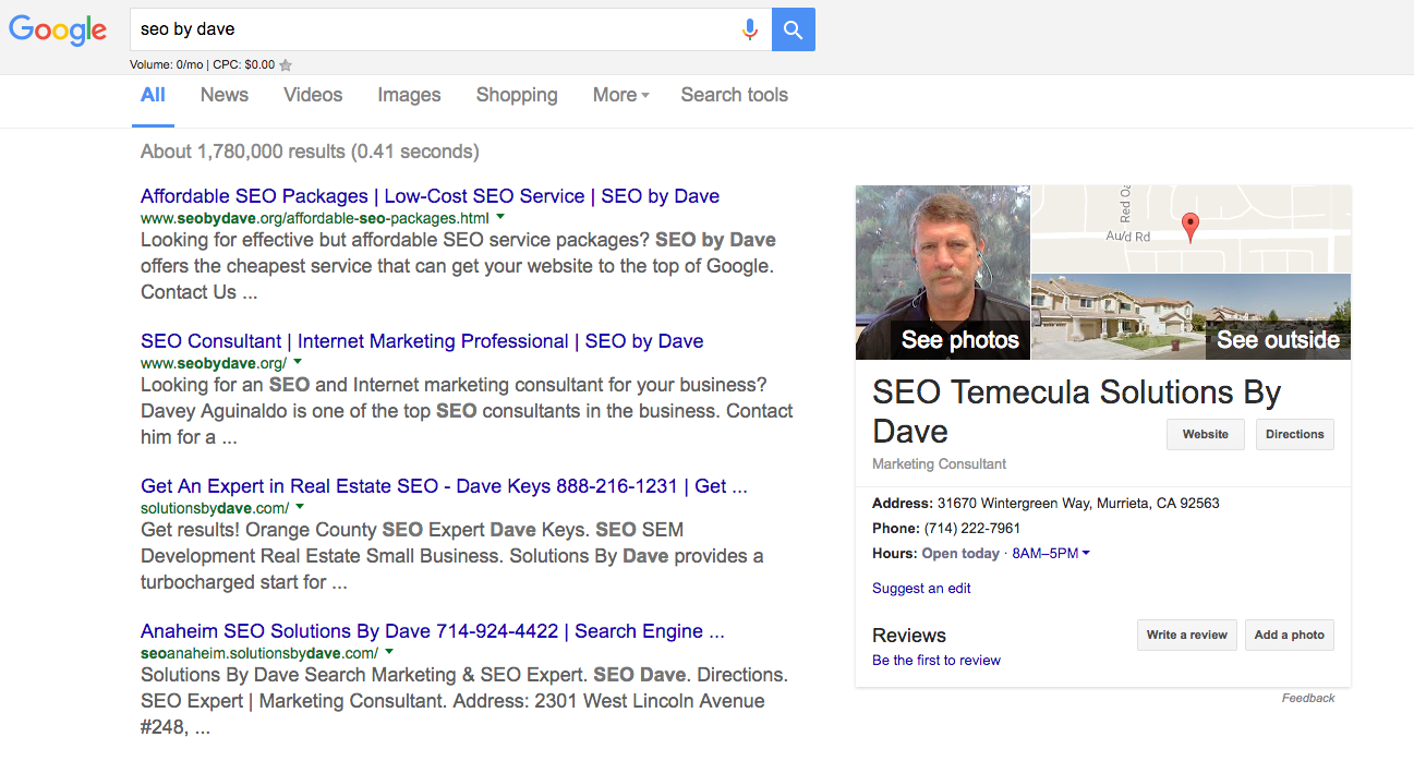 SEO by Dave