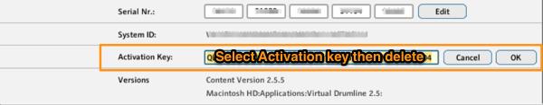 Delete Activation Key