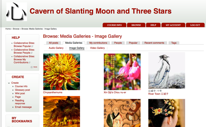 The Cavern of Slanting Moon and Three Stars