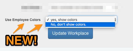 Employee Colour coded rota setting