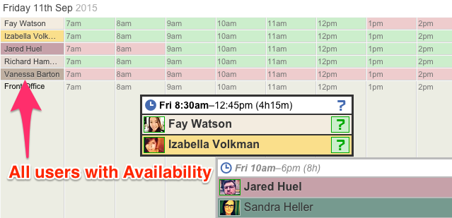 Employee Availability for Shifts
