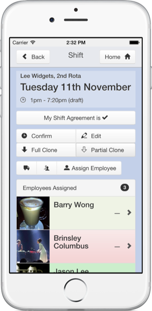 Rota Software iPhone App