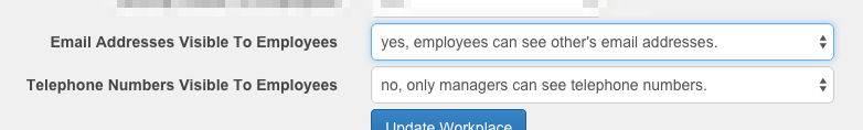 employee record privacy settings in workplace settings