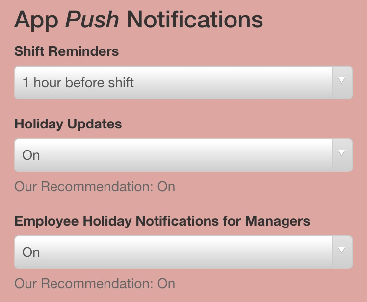 Mobile Shift Reminders