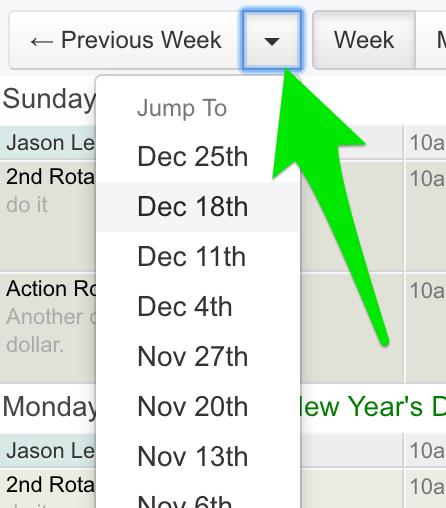 Rota date navigation