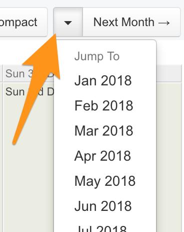 Rota month navigation