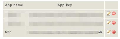Added app key