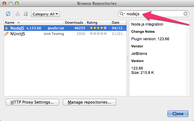 Instalando Node.js en IntelliJ IDEA 12