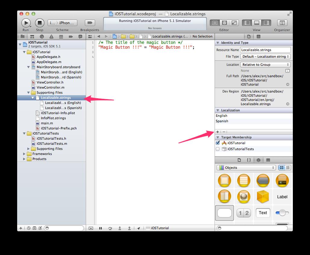 Xcode - añadiendo un idioma para Localizable.strings