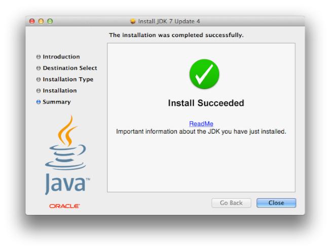 Install JDK 7 Update 4 - Instalación correcta