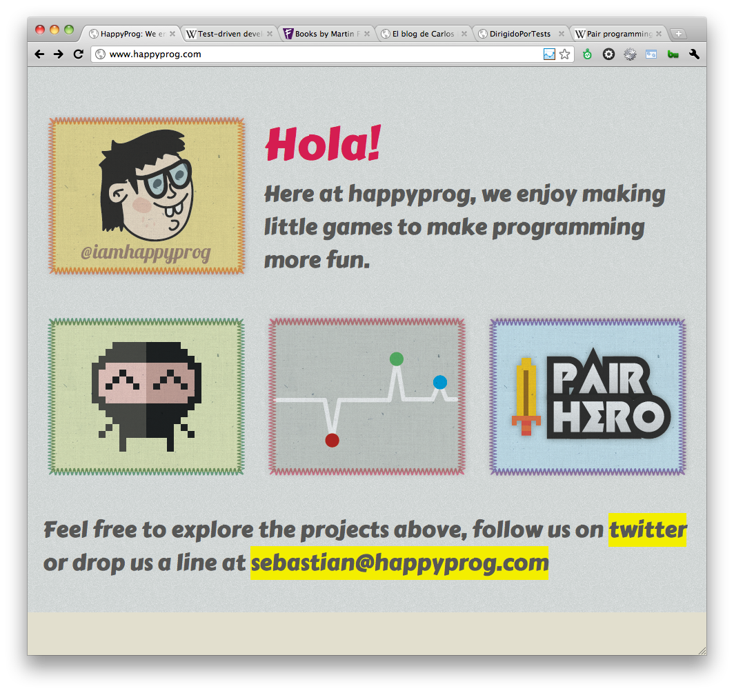 Happyprog home page