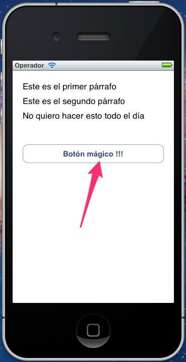 Botón en español