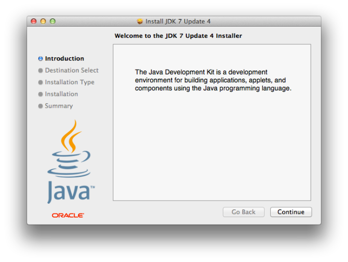 Install JDK 7 Update 4 - Instalador