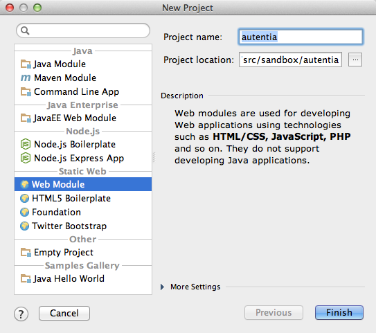 Crear un proyecto Web con IntelliJ IDEA 12