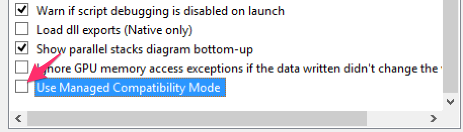 Managed Compatibility Mode
