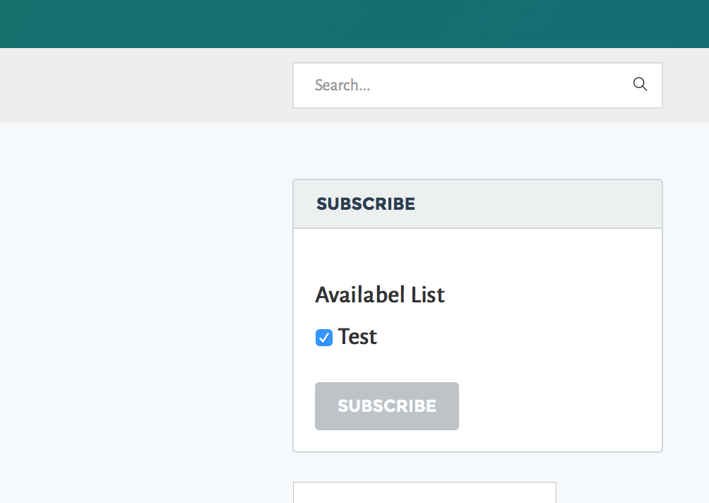 Subscription Widget - Logged In