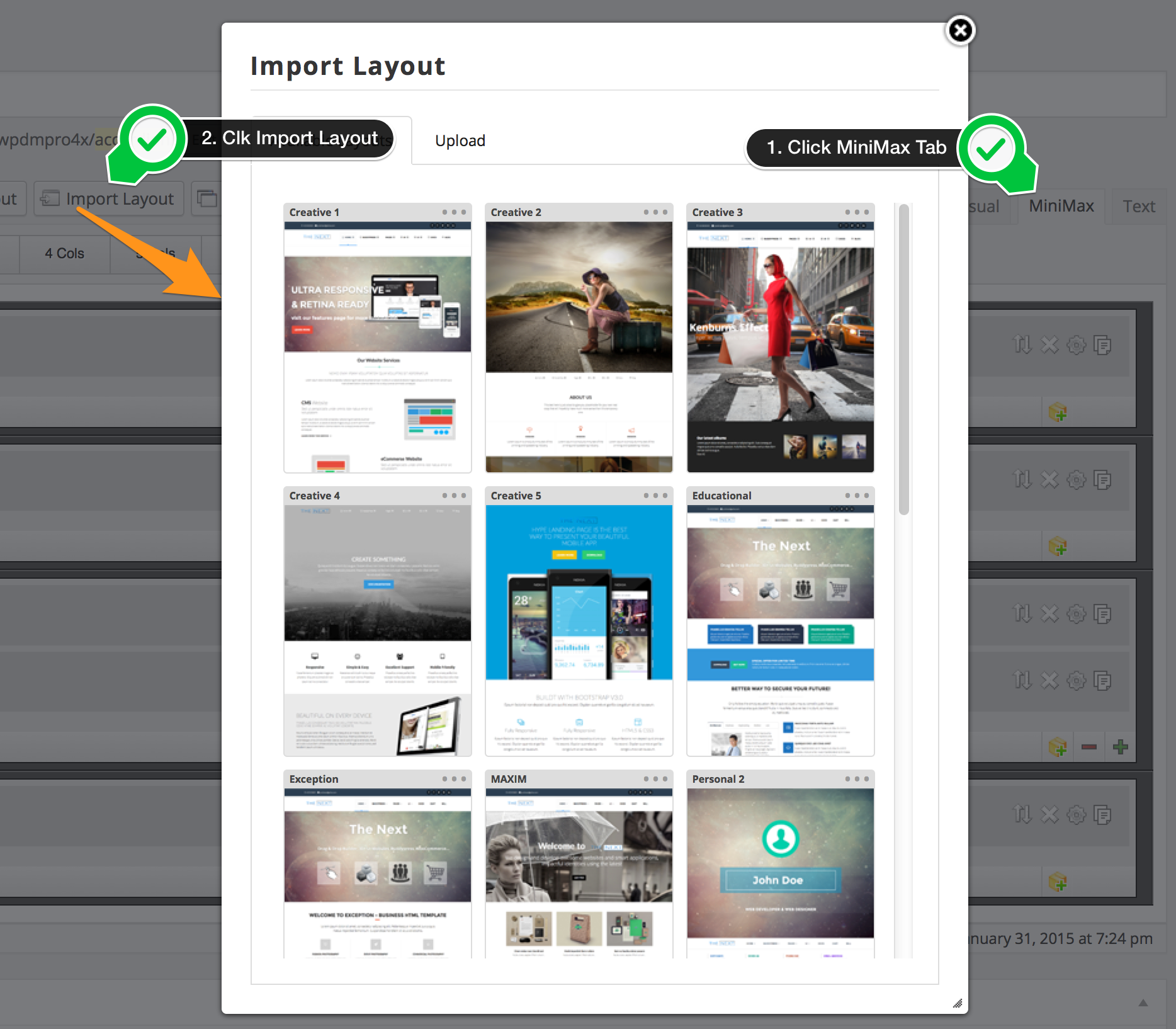 Import Layout