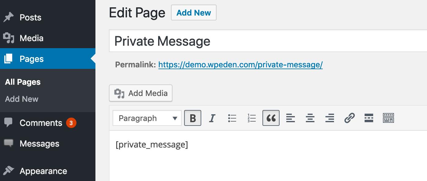 Private Message