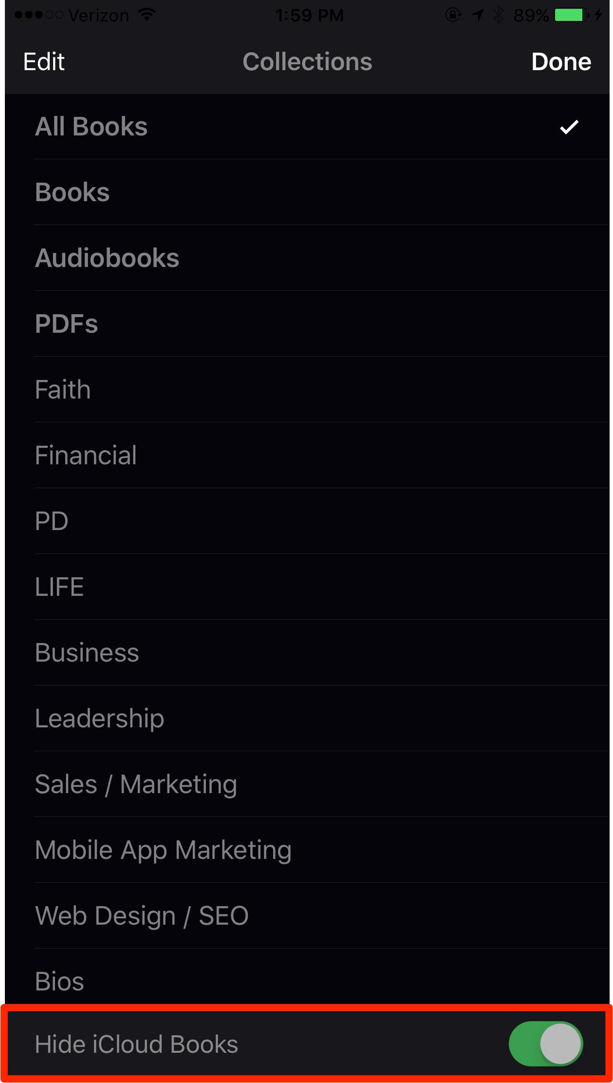 iOS and iBooks Sync