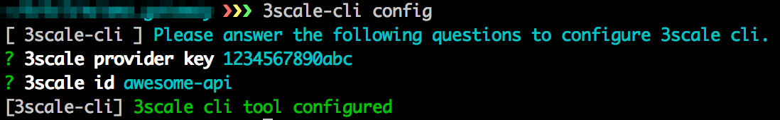 output from terminal