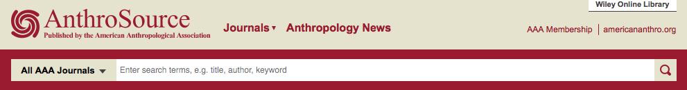 screenshot of anthrosource database