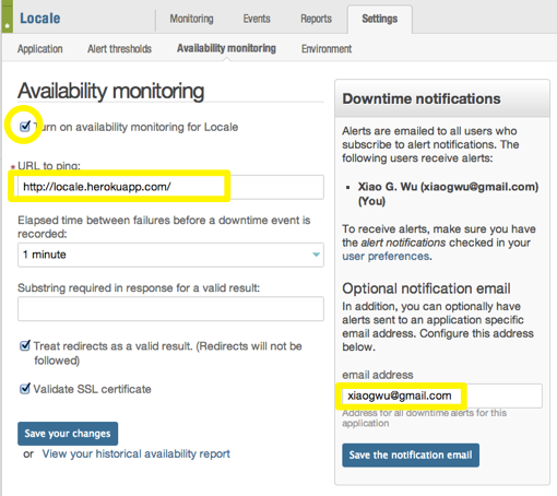 New Relic Availability Monitoring