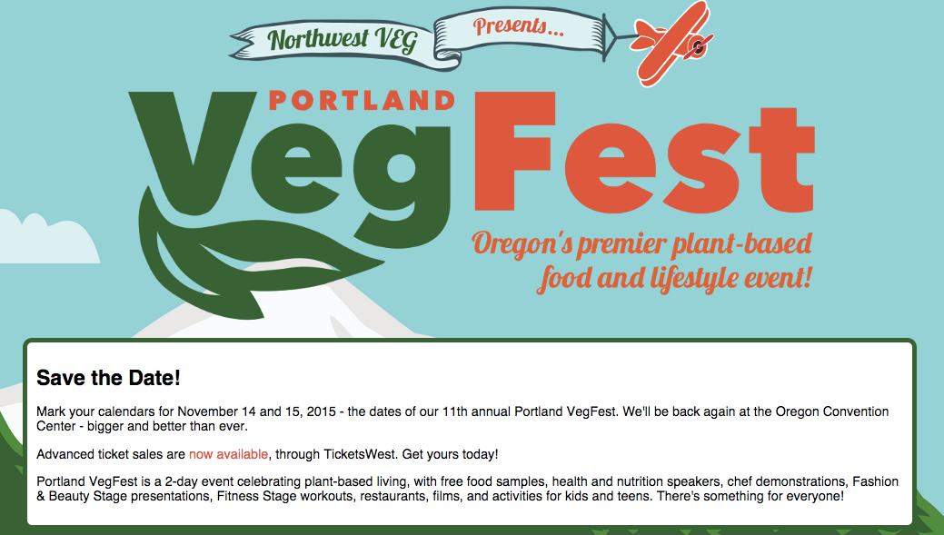 screenshot of nwvegfest.com