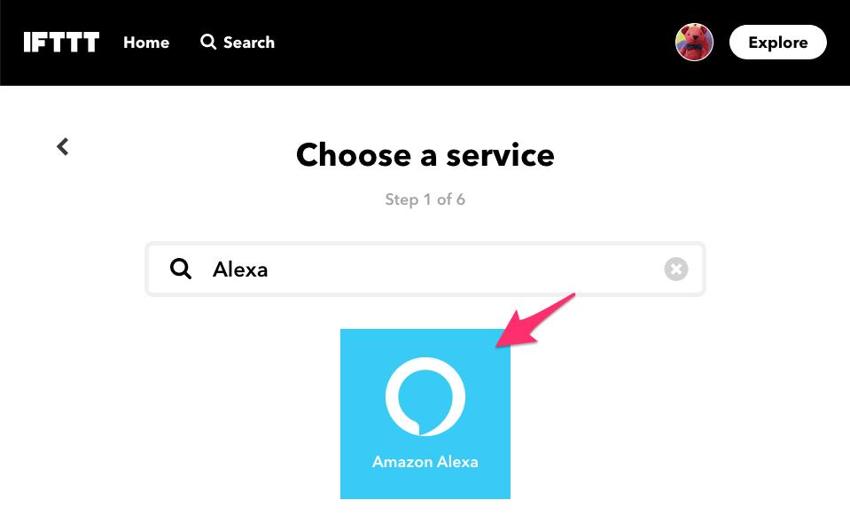 Alexaを選択