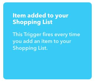 買い物リストに追加されたら、を選択