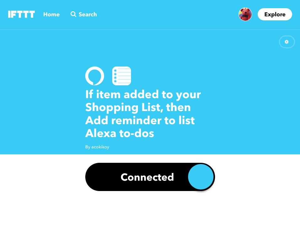 Alexa+IFTTt+iOSリマインダー