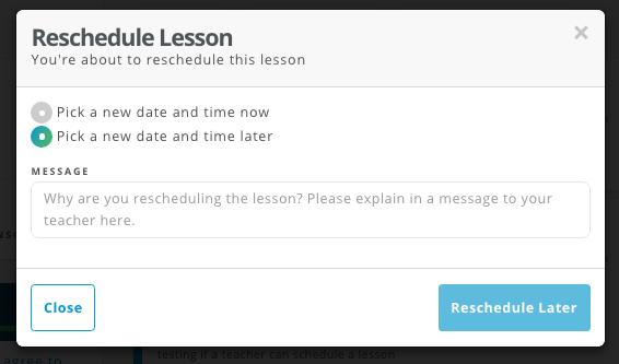 Student Reschedule