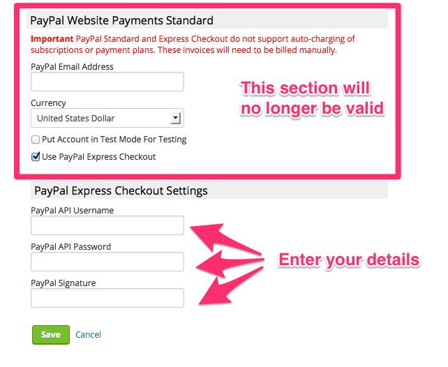 PayPal Credentials