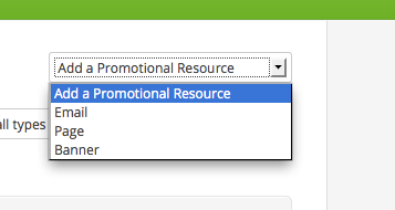 Adding Infusionsoft Promotional Resources