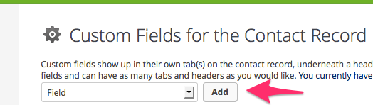 Add Custom Field for Infusionsoft