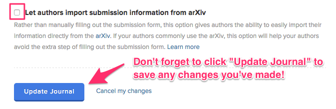 Image: Enable submissions via arXiv